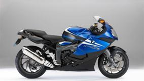 Side Pose Of BMW K1300S In Blue